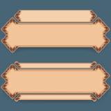 L'ensemble de bannières avec le vintage, ornamental, arabesques conçoivent illustration libre de droits