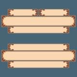 L'ensemble de bannières avec le vintage, ornamental, arabesques conçoivent Photographie stock libre de droits