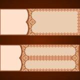 L'ensemble de bannières avec le vintage, ornamental, arabesques conçoivent illustration de vecteur