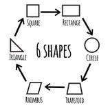 L'ensemble de base d'icône de formes Photographie stock libre de droits