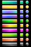 L'ensemble de boutons de Web Image stock