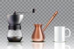 L'ensemble de café turc, dirigent l'illustration réaliste illustration libre de droits
