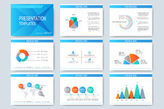 L'ensemble de calibres de vecteur pour la présentation universelle glisse Design d'entreprise moderne avec le graphique et les di illustration stock