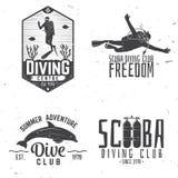 L'ensemble de club de plongée à l'air et l'école de plongée conçoivent Photo libre de droits