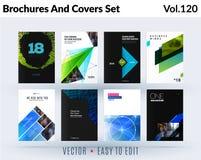 L'ensemble de conception de brochure, rapport annuel abstrait, couvrent la disposition moderne, insecte illustration stock