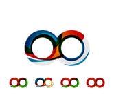 L'ensemble de concepts d'infini, logo de boucle conçoit Images stock