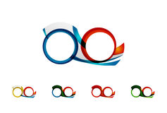 L'ensemble de concepts d'infini, logo de boucle conçoit Photos stock