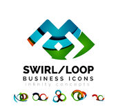 L'ensemble de concepts d'infini, logo de boucle conçoit Photo stock