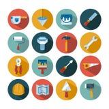 L'ensemble de construction de vecteur usine des icônes illustration libre de droits