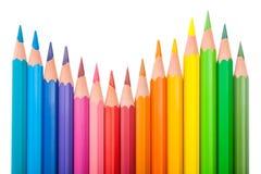 L'ensemble de couleur crayonne en forme de vague Images libres de droits