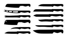 L'ensemble de couteau différent prélève l'illustration de vecteur Photographie stock