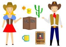 L'ensemble de cowboy Image libre de droits