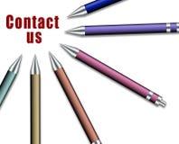 L'ensemble de crayons lecteurs dirigés pour noter nous contactent Illustration Libre de Droits