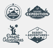 L'ensemble de désert risque le logo illustration libre de droits