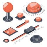 L'ensemble de 3D boutonne des régulateurs de commutateurs illustration de vecteur