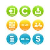 L'ensemble de 3d boutonne le Web d'affaires d'Internet Photographie stock libre de droits
