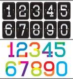 L'ensemble de deux ensembles numérote pour faire de la publicité et web design Photographie stock