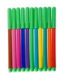 L'ensemble de doux-inclinent des crayons lecteurs Photographie stock libre de droits