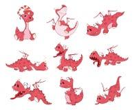 L'ensemble de dragons d'illustration de bande dessinée pour vous conçoivent Photos libres de droits