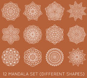 L'ensemble de fractale ethnique Mandala Vector Meditation Tattoo regarde le lik Photo stock