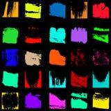 L'ensemble de grunge coloré donne au graffiti une consistance rugueuse Photo stock
