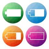 L'ensemble de 4 a isolé de bas boutons polygonaux modernes - icônes - pour le Ba Photographie stock libre de droits