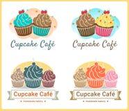 L'ensemble de label doux d'insigne de boulangerie de petit gâteau et le logo conçoivent Photographie stock libre de droits