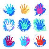 L'ensemble de mains de logos Photographie stock libre de droits