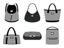 La mode met en sac des silhouettes Photo libre de droits