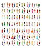 L'ensemble de nationalité illustration stock