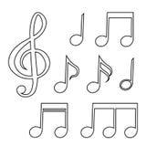L'ensemble de notes musicales Illustration de vecteur Image libre de droits