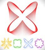 L'ensemble de pétale différent, fleur aiment des formes abstraites Illustration Stock