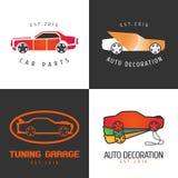 L'ensemble de peinture de voiture, voiture partie l'icône de vecteur, symbole, signe, logo Images stock