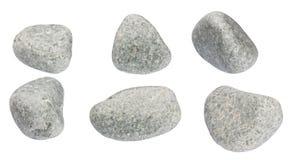 L'ensemble de pierres d'une forme ronde sont isolés Image stock
