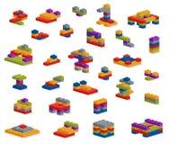 L'ensemble de plastique différent rapièce le constructeur, divers constructio Photographie stock
