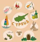 L'ensemble de profil national de l'état Espagne Chypre illustration libre de droits