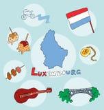 L'ensemble de profil national de l'état Luxembourg illustration stock