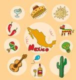L'ensemble de profil national de l'état Mexique illustration libre de droits