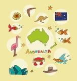 L'ensemble de profil national de l'Australie illustration de vecteur
