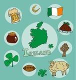L'ensemble de profil national de l'Irlande illustration de vecteur