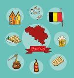 L'ensemble de profil national de la Belgique illustration libre de droits