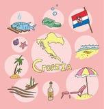 L'ensemble de profil national de la Croatie illustration stock