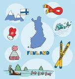 L'ensemble de profil national de la Finlande illustration libre de droits