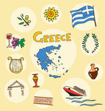 L'ensemble de profil national de la Grèce illustration de vecteur
