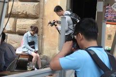 L'ensemble de réalité de Florence de la Chine étaient sont nous allant, papa Photo stock