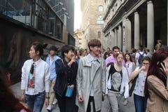 L'ensemble de réalité de Florence de la Chine étaient sont nous allant, papa Photos libres de droits
