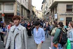 L'ensemble de réalité de Florence de la Chine étaient sont nous allant, papa Image stock
