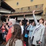 L'ensemble de réalité de Florence de la Chine étaient sont nous allant, papa Image libre de droits