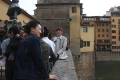 L'ensemble de réalité de Florence de la Chine étaient sont nous allant, papa Images libres de droits