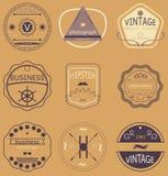L'ensemble de rétro vintage badges, des rubans et marque le hippie illustration stock